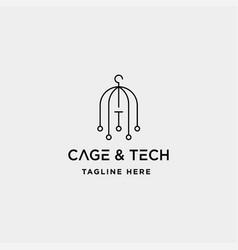 Birdcage internet logo design wifi house icon vector