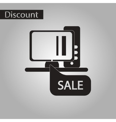 Black and white style icon online buying vector