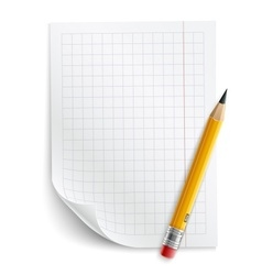 Blank sheet of paper with vector image