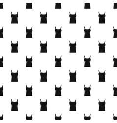 blank women tank top pattern vector image