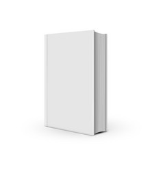 book mockup white realistic on white vector image