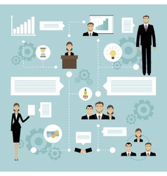 Business meeting concept vector