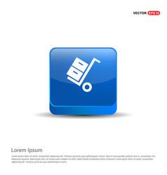 cart icon - 3d blue button vector image