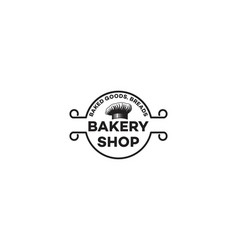 chef hat vintage bakery logo vector image