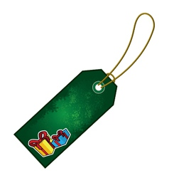 christmas present cartoon gift tag vector image