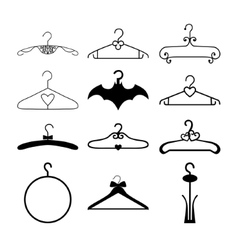 Clothes hanger collection vector image