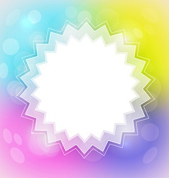 Colorful Blurred Abstract Background with Star vector image