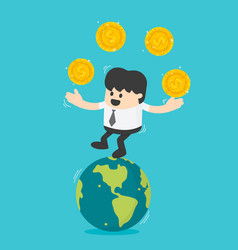 concept business transfer of coins successful vector image