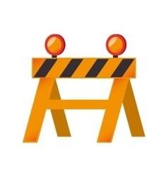 Construction barricade barrier graphic vector