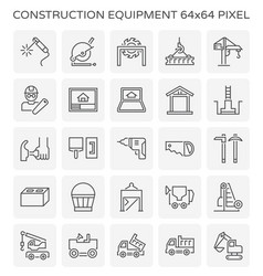 Construction equipment icon vector