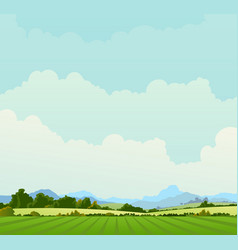 Country landscape background vector