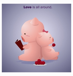 Cute Animals Collection Love is all around 6 vector image