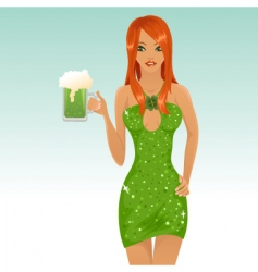 cute leprechaun girl vector image