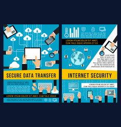 data internet security technology posters vector image
