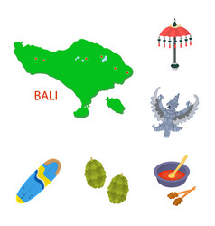 Design of bali and indonesia symbol vector