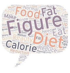 Diet Tips for a Beautiful Female Figure text vector