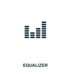 equalizer icon line style icon design ui vector image