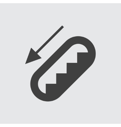 Escalator icon vector image