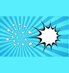 explosive comic background vector image vector image