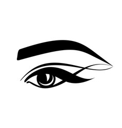 Eyelashes eye eyebrows - stylized logo on a vector