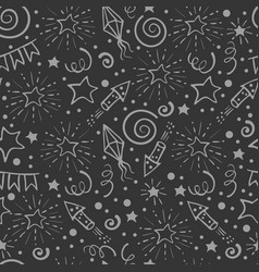 Festive seamless pattern vector