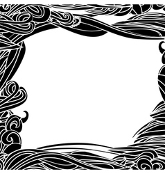 Floral Waves Lines Background vector image