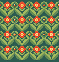 flowers and leaves nature background abstract vector image