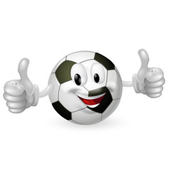football ball mascot vector image