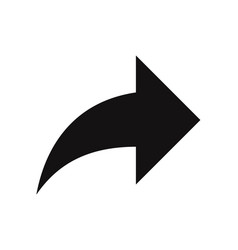 forward arrow icon vector image
