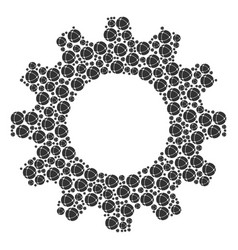 gear wheel mosaic of internet icons vector image