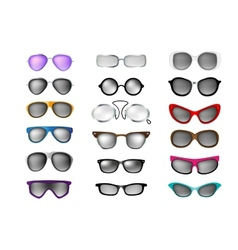 glasses set isolated white background vector image