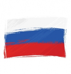 Grunge russia flag vector
