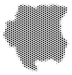 Hexagon suriname map vector