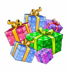 holiday gift presents isolated vector image