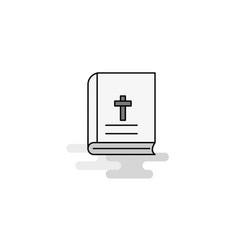 holy bible web icon flat line filled gray icon vector image
