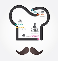 infographics food design diagram line vector image