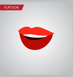 Isolated smile flat icon laugh element can vector