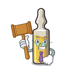 Judge ampoule mascot cartoon style vector