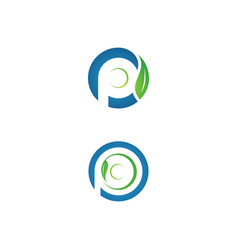 letter p plate vector image