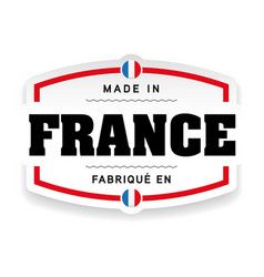 made in france label vector image
