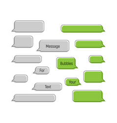 message bubbles in trendy flat style message vector image