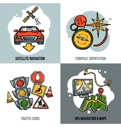 Navigation Concept Set vector image