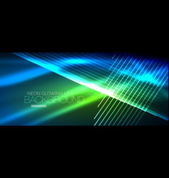 neon smooth wave digital abstract background vector image