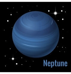 Neptune planet 3d High vector image
