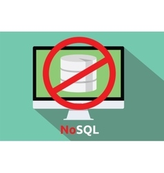 nosql database new concept vector image