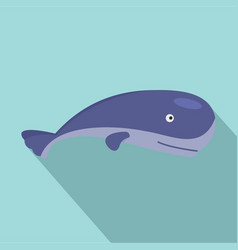 ocean whale icon flat style vector image