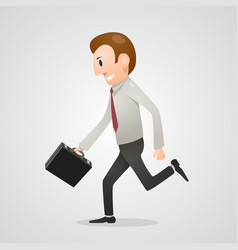 office man running vector image