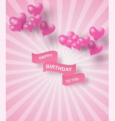 paper art of happy birthday elements background vector image