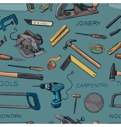 Pattern from various carpentry woodworker vector