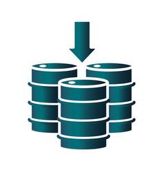 Petrleum barrels down trade crisis economy oil vector